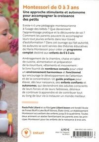 Montessori de 0 à 3 ans. Elever des enfants confiants et autonomes dès la naissance