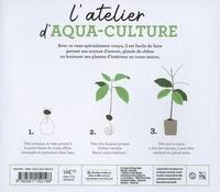 Coffret L'atelier d'aqua-culture. Le livre Faire pousser ses noyaux avec 1 vase spécialement conçu