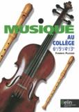 Frédéric Platzer - Musique au collège 6e/5e/4e/3e.