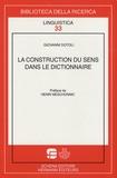 Giovanni Dotoli - La construction du sens dans le dictionnaire.