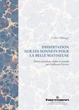 Gilles Ménage - Dissertation sur les sonnets pour la belle matineuse.
