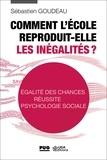 Sébastien Goudeau - Comment l'école reproduit-elle les inégalités ? - Egalité des chances, réussite, psychologie sociale.