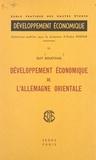 Guy Roustang et  Ecole Pratique - Développement économique de l'Allemagne orientale.
