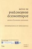 Gilles Campagnolo et Emmanuel Picavet - Revue de philosophie économique Volume 17 N° 1, juin : Néolibéralisme(s) et démocratie(s).