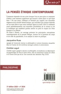La pensée éthique contemporaine 5e édition