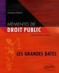 Guillaume Thibault - Mémento de droit public - Les grandes dates.