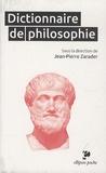 Jean-Pierre Zarader - Dictionnaire de philosophie.