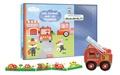 Natacha Godeau et Stéphanie Bardy - Mon coffret de pompiers - Contient 1 camion de pompier, 1 frise puzzle.