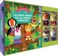 Bénédicte Rivière et Dan Taylor - Les mini-héros de la jungle magique - Avec quatre marionnettes à doigts.