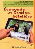 Frédérique Bertholio et Laurence Fallet - Economie et gestion hôtelière Tle Bac technologique STHR.