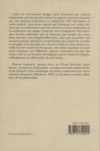 Rousseau et le travail de la convenance