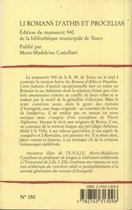 Li romans d'Athis et Procelias. Edition du manuscrit 940 de la bibliothèque municipale de Tours