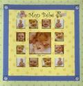 Piccolia - Mon bébé - Album de naissance avec une toise en tissu.