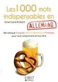 Anne-Claire Brabant - Les 1000 mots indispensables en allemand.