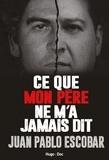 Juan Pablo Escobar - Ce que mon père ne m'a jamais raconté.