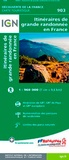 IGN - 1m903 itinéraires de grande randonnée en France.