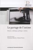Frédérique Berthet et Marion Froger - Le partage de l'intime - Histoire, esthétique, politique : cinéma.