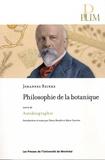 Johannes Reinke - Philosophie de la botanique - Suivi de Autobiographie.