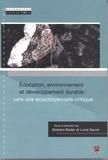 Barbara Bader et Lucie Sauvé - Education, environnement et développement durable : vers une écocitoyenneté critique.
