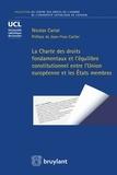 Nicolas Cariat - La Charte des droits fondamentaux et l'équilibre entre l'Union européenne et les Etats membres.