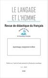 Luc Collès - Le Langage et l'Homme Volume 50 N° 1, Juin : Apprentissage, enseignement et affects.