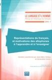 Jean-Marc Defays et Geneviève Géron - Le Langage et l'Homme N° 511 : Représentations du français et motivations des allophones à l'apprendre et à l'enseigner.