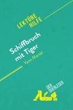 der Querleser - Schiffbruch mit Tiger von Yann Martel (Lektürehilfe) - Detaillierte Zusammenfassung, Personenanalyse und Interpretation.