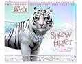 Christine Alcouffe - Snow tiger - Avec plus de 550 autocollants.