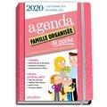Play Bac et  Ultraviolette - Agenda famille organisée de poche - Couverture rose.