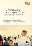 Serge Borg et Laurent Gajo - L'université en contexte plurilingue dans la dynamique numérique.