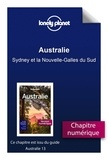 LONELY PLANET FR - GUIDE DE VOYAGE  : Australie - Sydney et la Nouvelle-Galles du Sud.