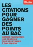 Les citations pour gagner des points au BAC / Benoît Falaize |
