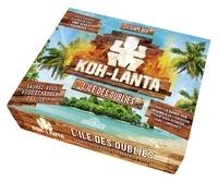 Escape Box Koh-Lanta, L'île des oubliés. Coffret avec 1 livret de 32 pages, 40 cartes, 1 bande-son et 1 poster