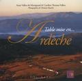 Anne Vallon de Montgrand et Caroline Thomas-Vallon - Table mise en Ardèche.