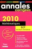 Stéphane Lancement - Mathématiques BEP secteurs tertiaires 2010.