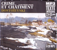 Fédor Dostoïevski - Crime et châtiment. 5 CD audio MP3