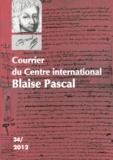 Dominique Descotes - Courrier du Centre international Blaise Pascal N° 34/2012 : .