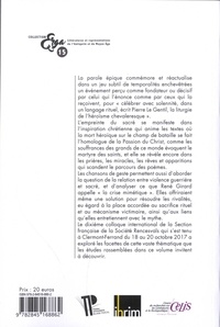 La chanson de geste et le sacré. Actes du Xe colloque international de la Section française de la société Rencesvals (Clermont-Ferrand, 18-20 octobre 2017)