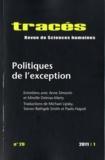 Samuel Hayat et Lucie Tangy - Tracés N° 20, 2011/1 : Politiques de l'exception.