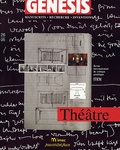 Nathalie Léger et Almuth Grésillon - Genesis N° 26-05 : Théâtre.