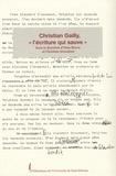 """Elisa Bricco et Christine Jérusalem - Christian Gailly, """"l'écriture qui sauve""""."""