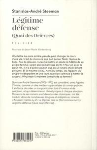 Légitime défense. Quai des Orfèvres