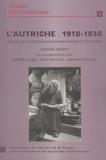 Jeanne Benay - L'Autriche (1918-1938) - Recueil de textes civilisationnels.