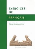 René Lagane et Jean Dubois - Exercices de français - Classe de cinquième.