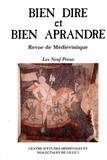 Sandrine Legrand et Marie-Madeleine Castellani - Bien Dire et Bien Aprandre N° 31 : Les Neuf Preux.