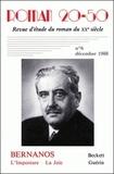 Monique Gosselin - Roman 20-50 N° 6, décembre 1988 : Bernanos, L'imposture et La joie - Beckett, Guérin.