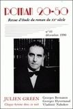 """Monique Gosselin - Roman 20-50 N° 10, décembre 1980 : Julien Green, """"Chaque homme dans sa nuit"""" - Georges Bernanos, Georges Hyvernaud, Vladimir Nabokov."""