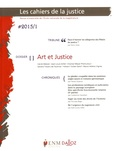 Dalloz - Les Cahiers de la Justice N° 1/2015 : Art et Justice.