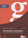 Helen Breutmann et Marcella Di Giura - Grammaire contrastive A1/A2 - Französische grammatik für deutschprachige. 1 CD audio