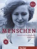 Sabine Glas-Peters et Angela Pude - Menschen A1.1 - Deutsch als Fremdsprache Arbeitsbuch. 1 CD audio